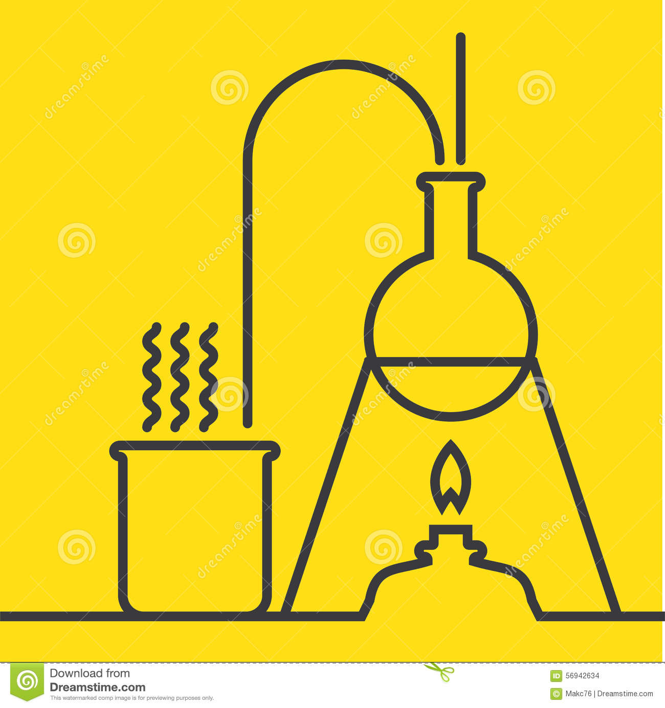 Chemistry With Lab Test And Research Equipment Stock