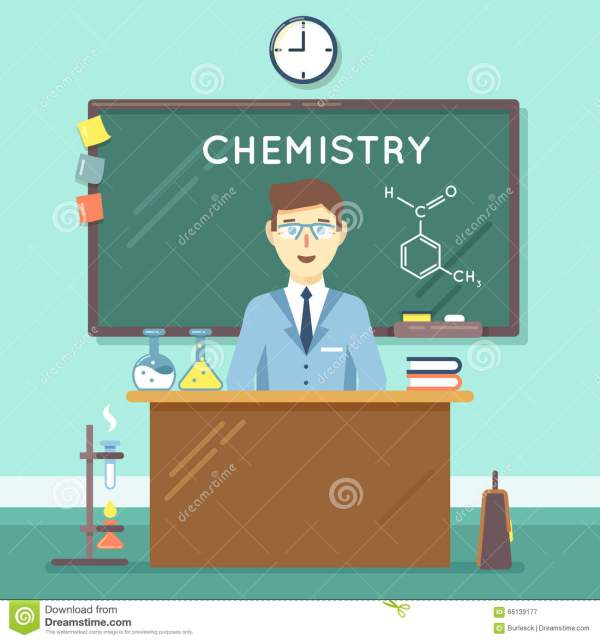 Chemistry Classroom Cartoon