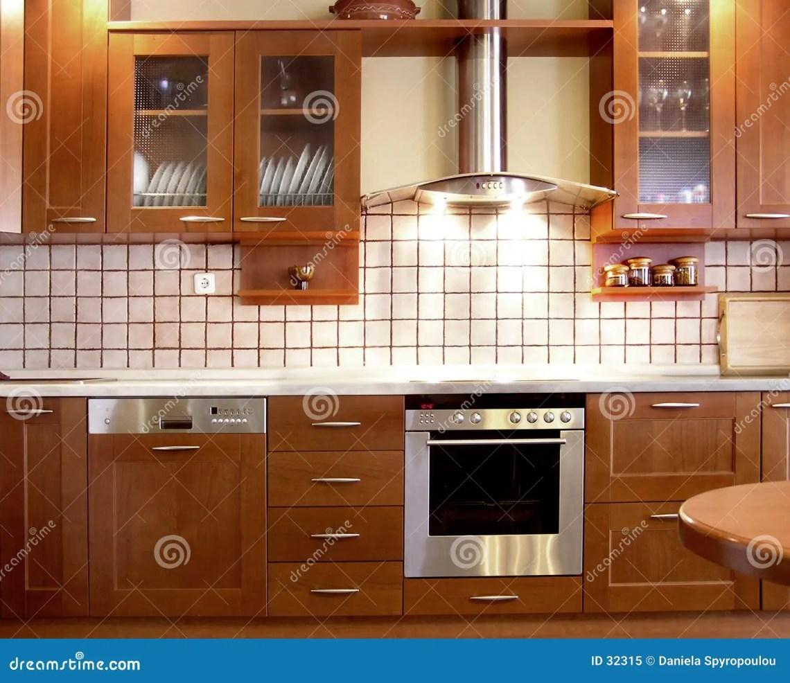 Cherry Kitchen Design Stock Image Image Of Decor Interior 32315