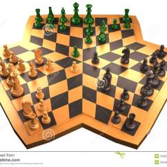 4 Way Chess Online 2003 Ford Expedition Wiring Diagram Stock Illustration Image Of Chessboard Board