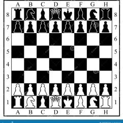 Chess Board Setup Diagram Swimlane Type With Pieces Stock Vector Illustration