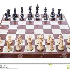 Chess Board Setup Diagram Wiring Plc Set Up To Begin A Game Stock Photo Image Of