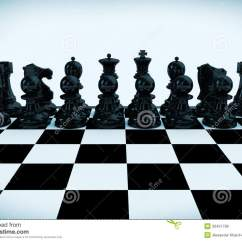 Chess Board Setup Diagram How To Read A Wire Set Up Begin Game Royalty Free Stock