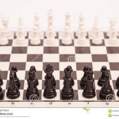 Chess Board Setup Diagram Lewis Dot For C2h4 Set Up To Begin A Game Stock Image Of