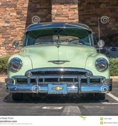 upland united states of america july 29 2017 1950 mist green chevrolet appears in spontaneous classic car show in suburban parking lot  [ 1300 x 1094 Pixel ]