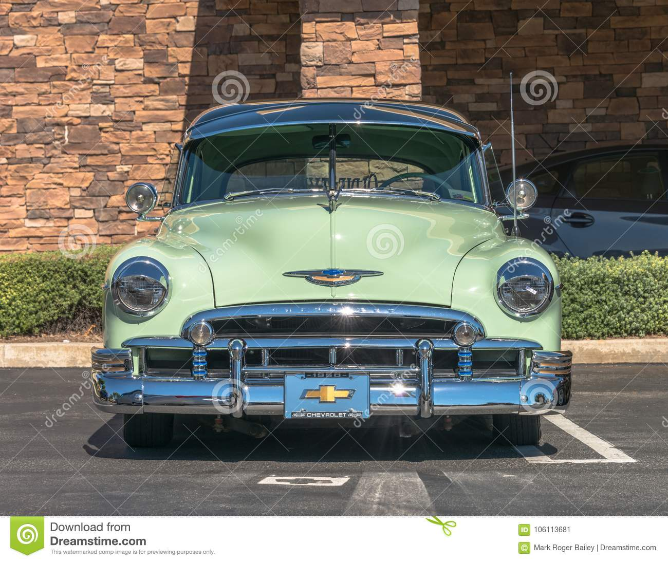 hight resolution of upland united states of america july 29 2017 1950 mist green chevrolet appears in spontaneous classic car show in suburban parking lot