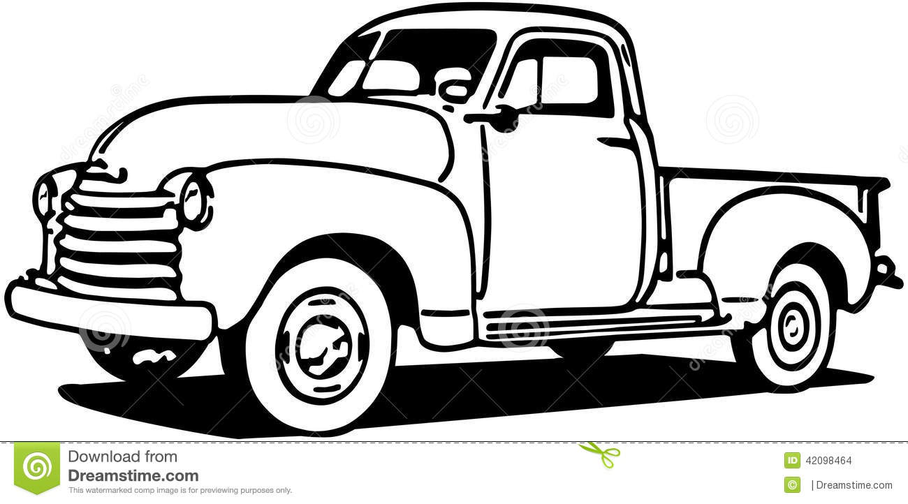 Chevy Pickup Truck stock vector. Illustration of scalable