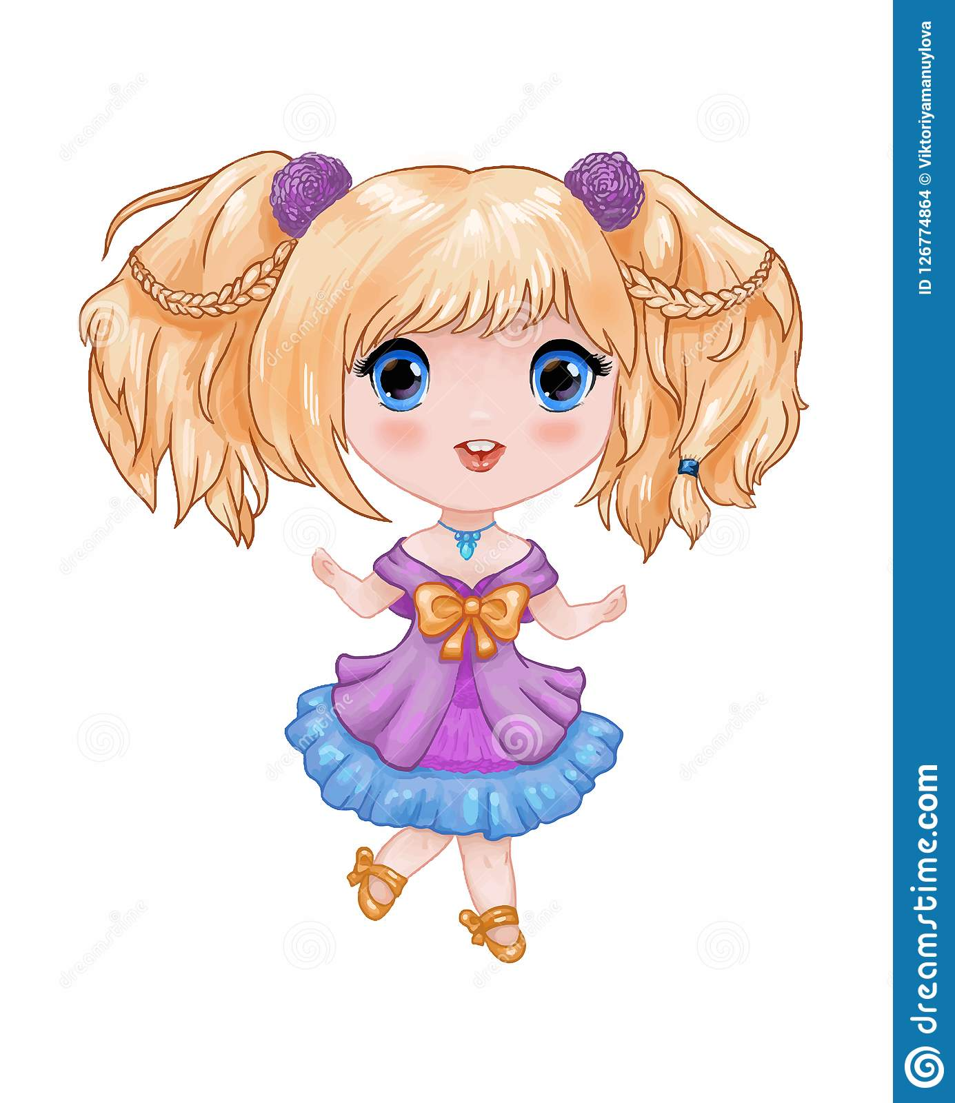 chibi illustration little cute