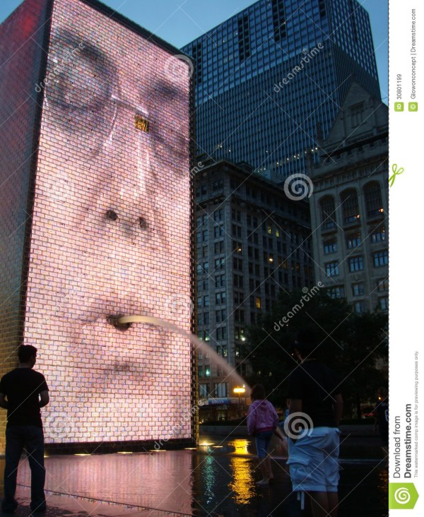 Chicago Crown Fountain Editorial Stock Of