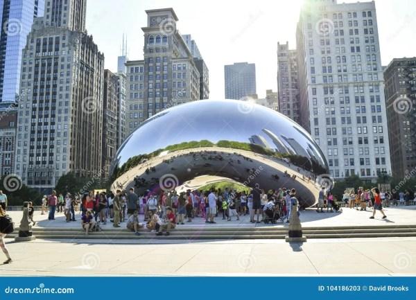 Millennium Park Chicago Editorial Stock Of