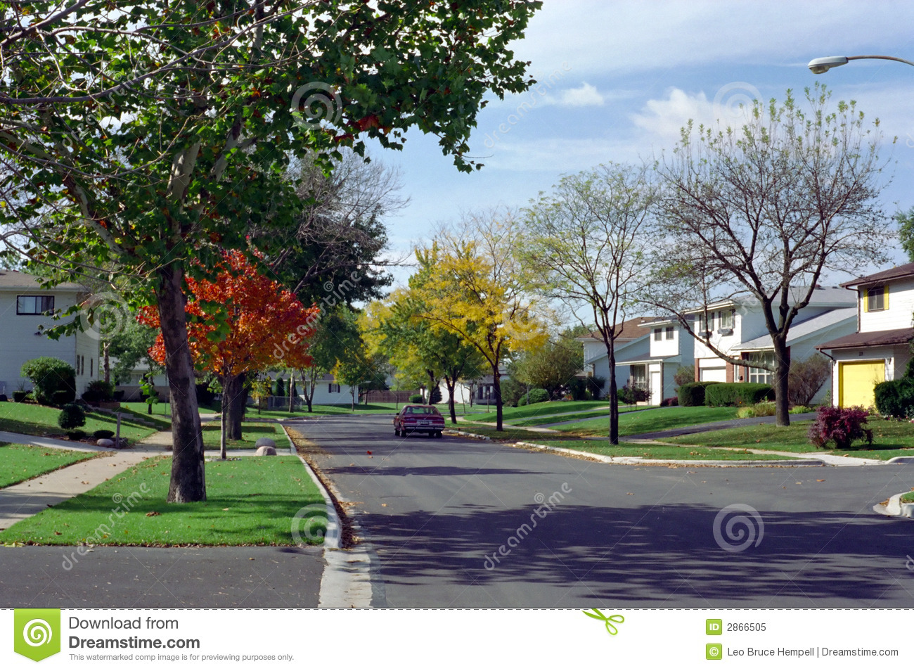 Chicago Illinois West Suburb Street USA Stock Image