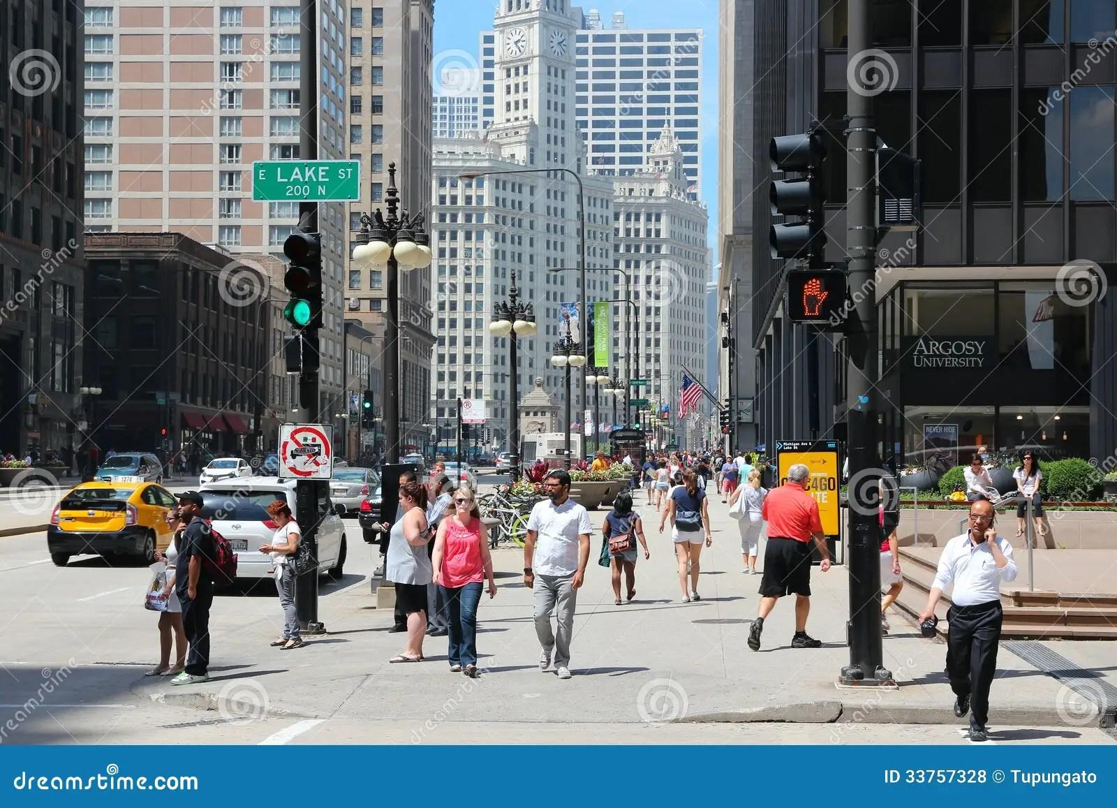 Chicago Michigan Avenue Editorial Stock Photo Image
