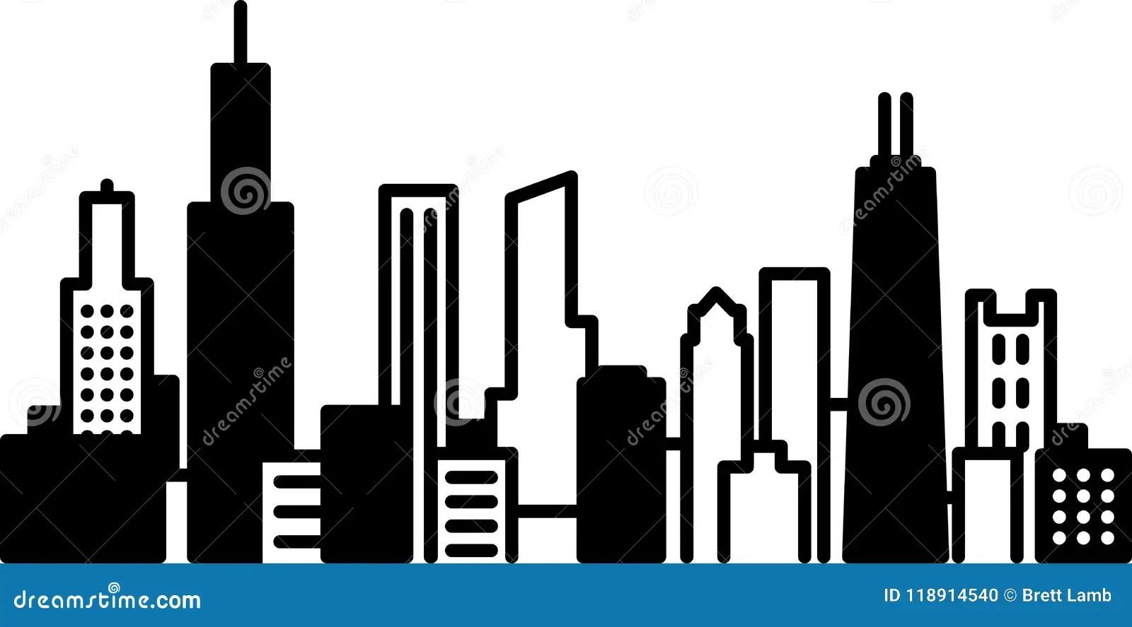 hight resolution of chicago skyline city icon