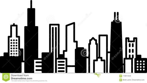small resolution of chicago skyline city icon