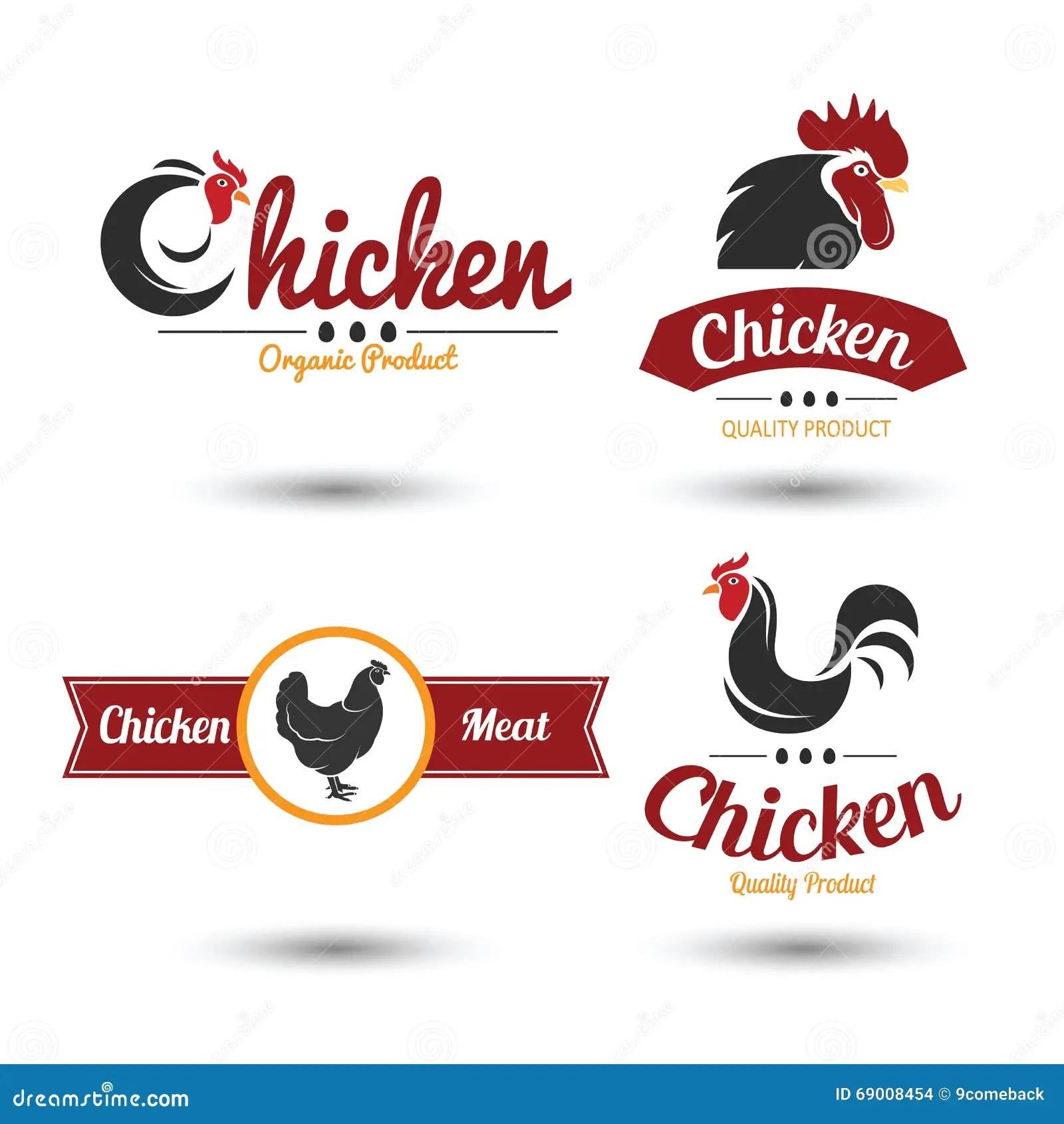 Chicken Label Stock Vector Illustration Of Menu Fresh