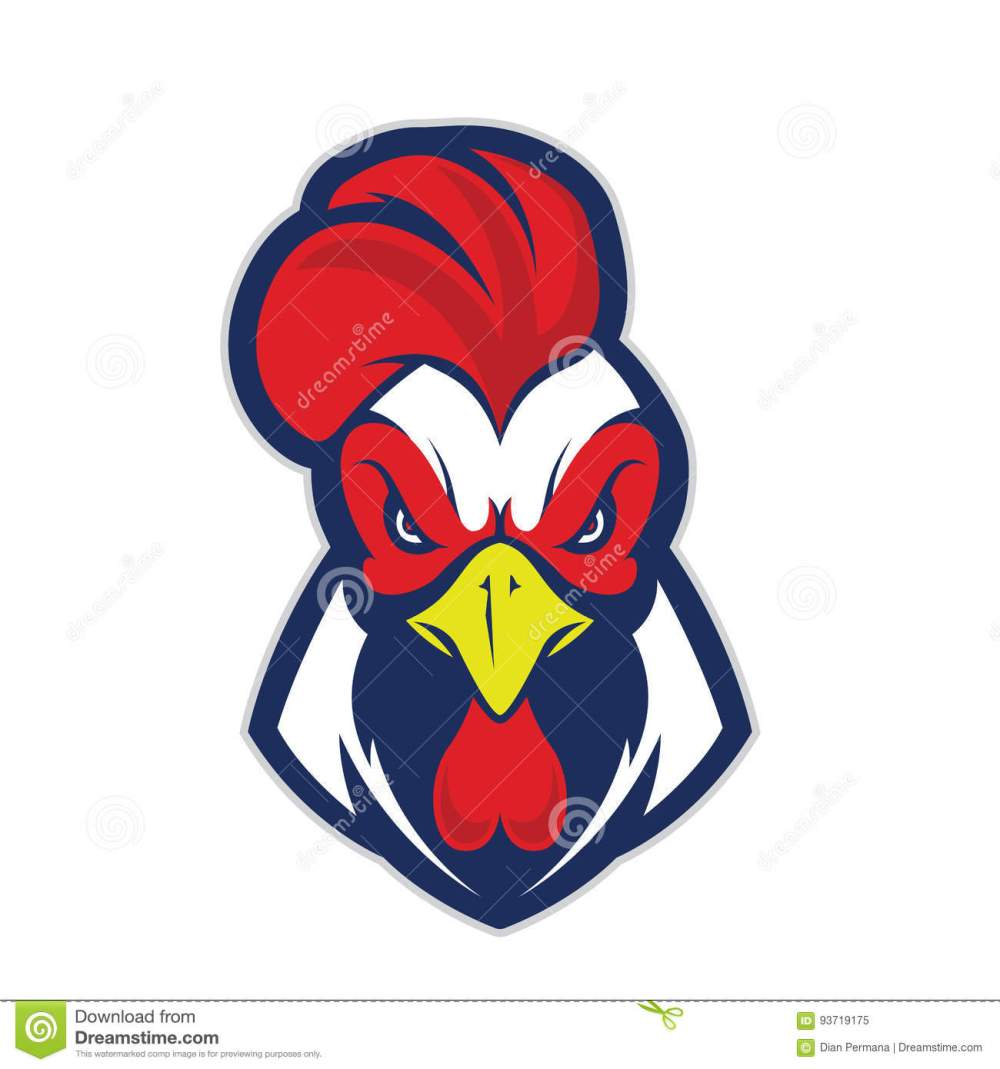medium resolution of clipart picture of a chicken rooster head cartoon mascot logo character