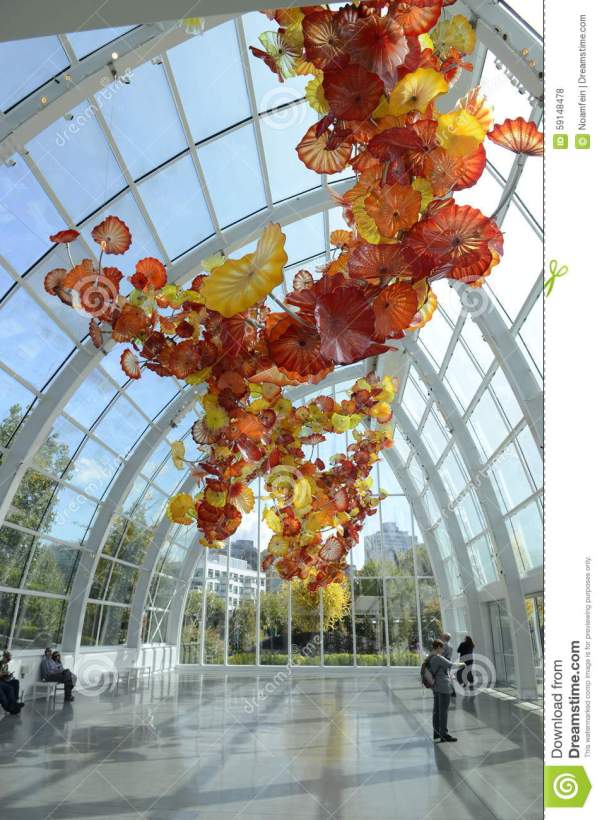 Chihuly Garden And Glass Museum In Seattle Editorial Stock