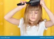 child brushing hair royalty