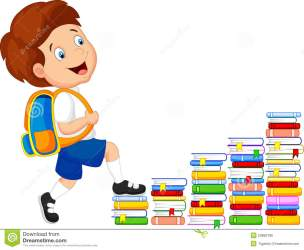 stairs climbing cartoon child illustration preview