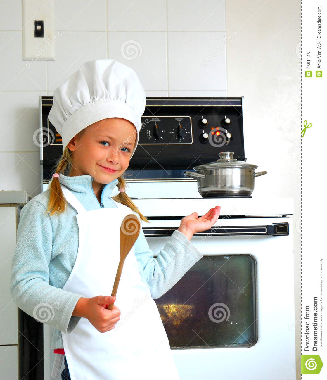 kitchen chief home depot sink faucet child chef cooking royalty free stock photo - image: 9591145