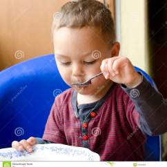 Eating Chair For Toddlers Perkins Caning Supplies Child Stock Photos Image 31642463