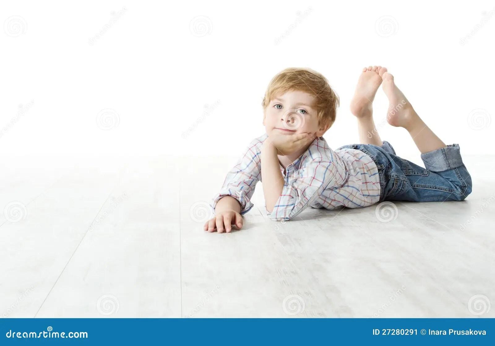 child lying down on