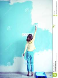 Child Painting The Wall Royalty Free Stock Photography ...