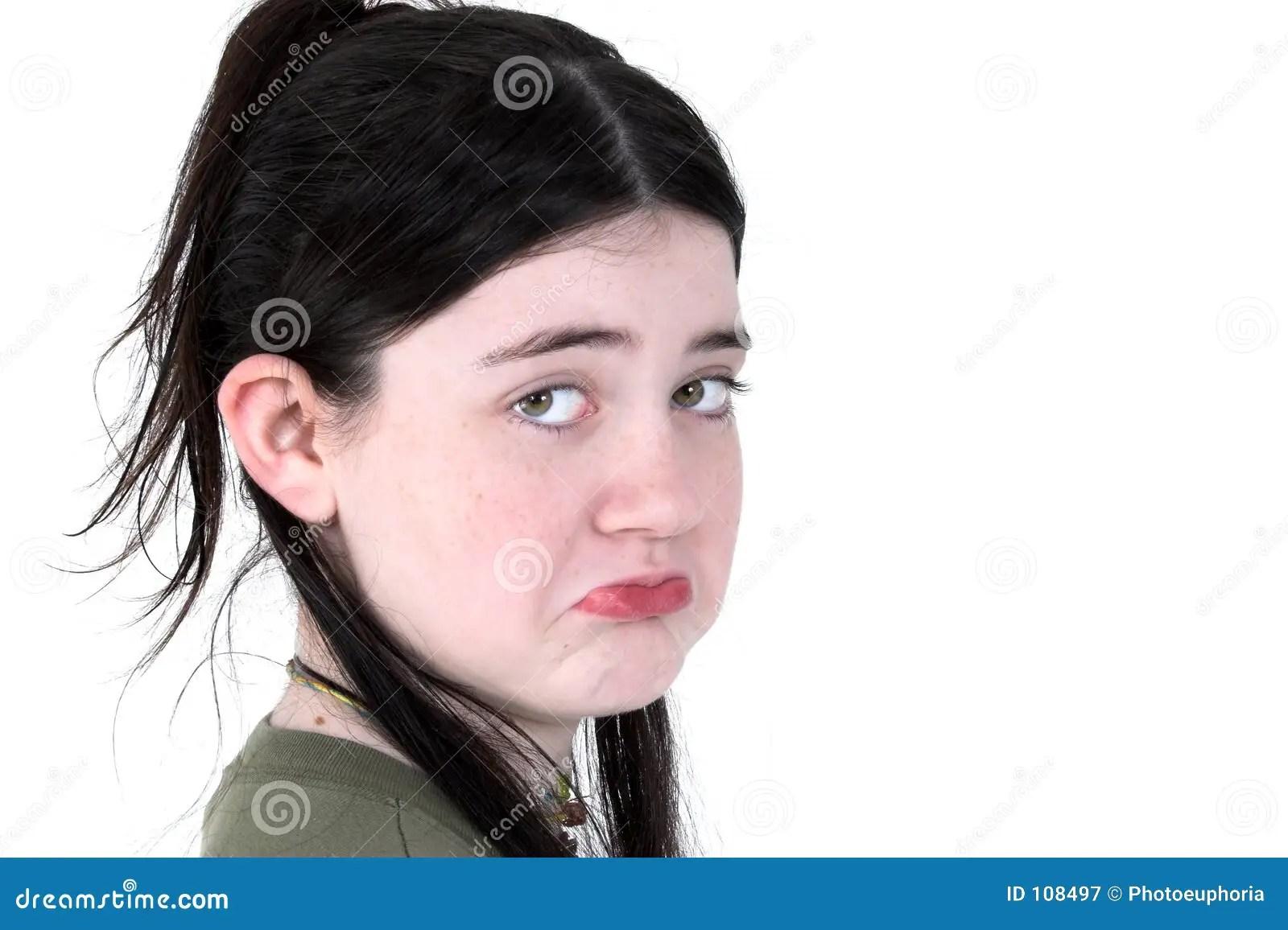 child pouting stock image
