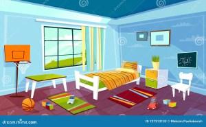 cartoon bedroom kid boy furniture interior child toys bed children teen ball