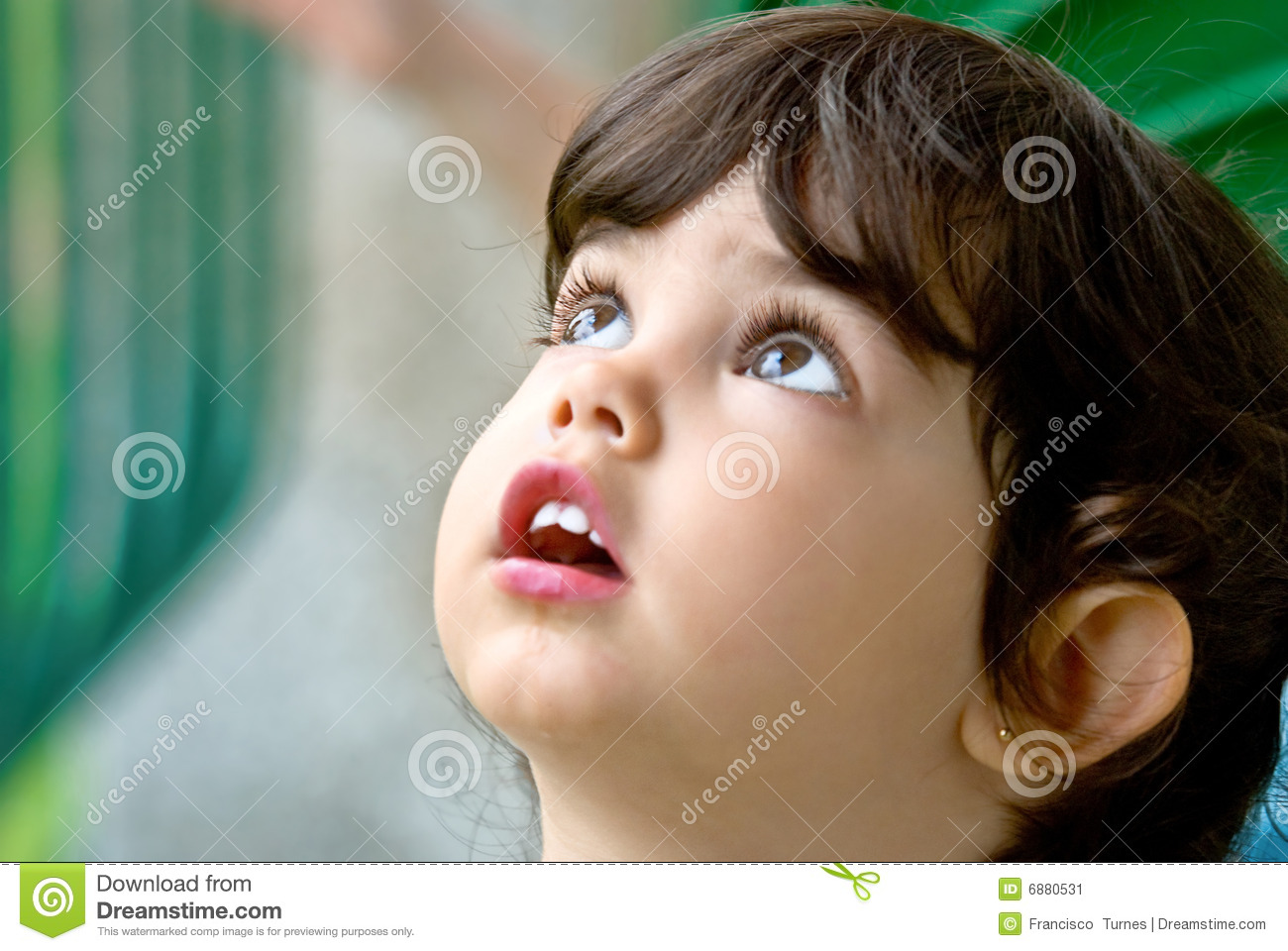 Child39s face stock image Image of image cute thought