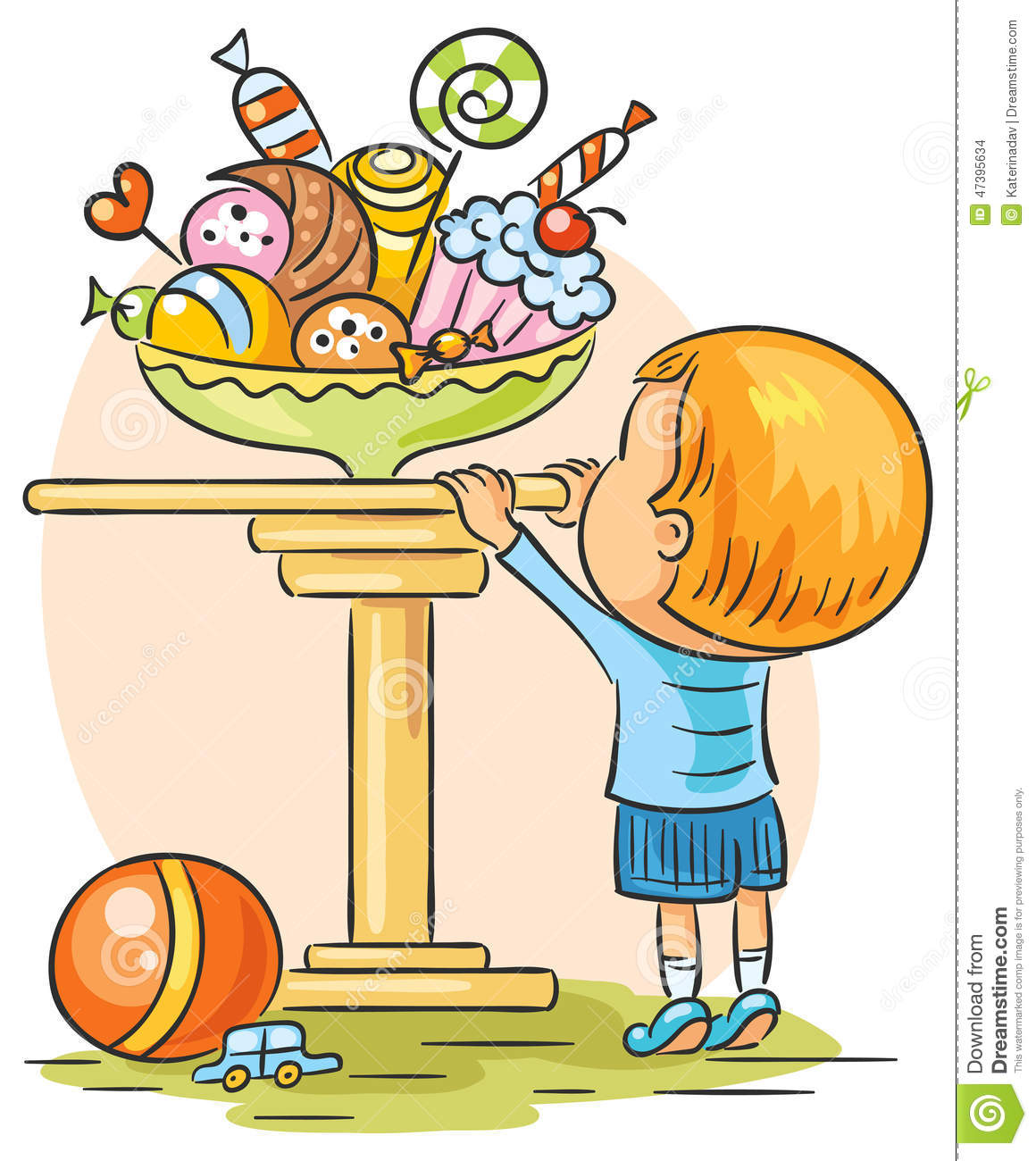 Child And Sweets Stock Vector