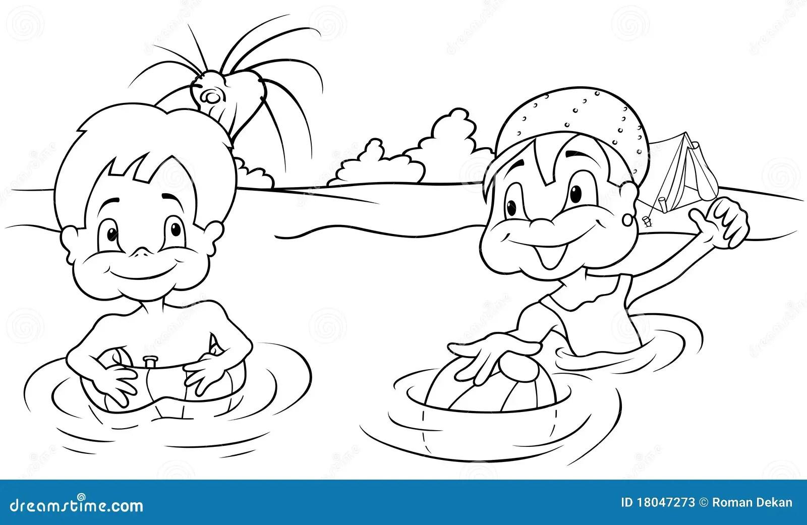 Children Bathing Stock Photos