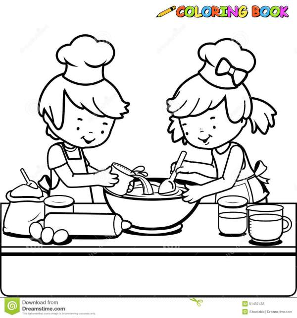cooking coloring pages # 28