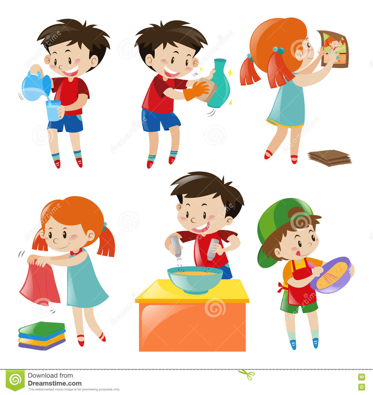 Children Doing Different Things Stock Vector