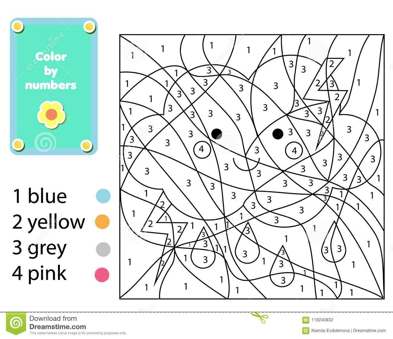Popular Easy Coloring Activity Worksheets For Preschoolers