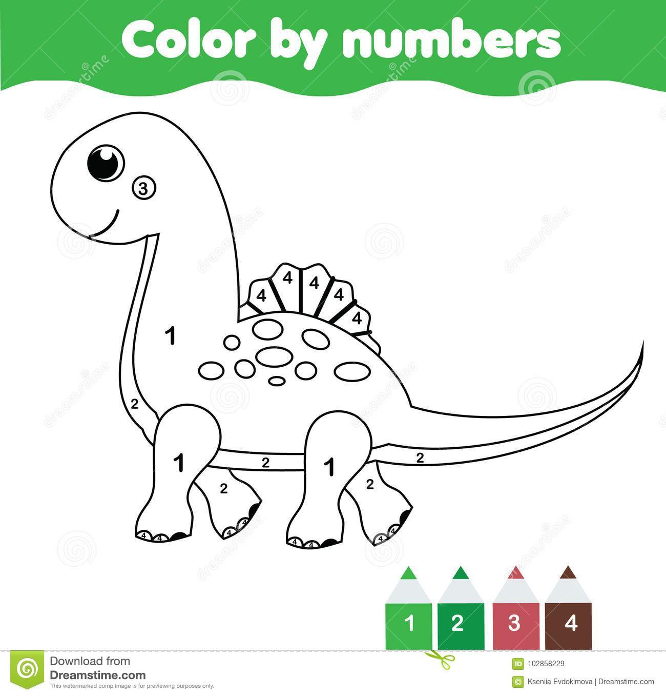 Children Educational Game Coloring Page With Cute