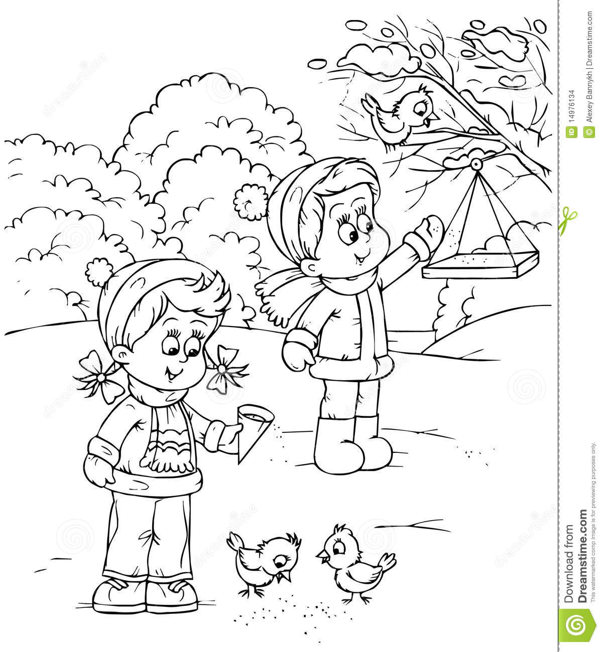 Free en playing in the park coloring pages