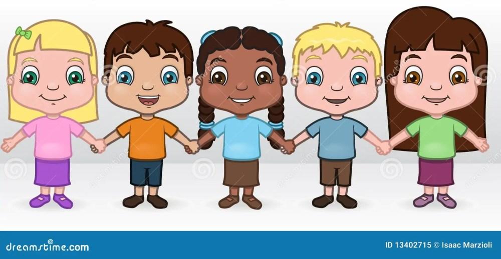 medium resolution of children holding hands