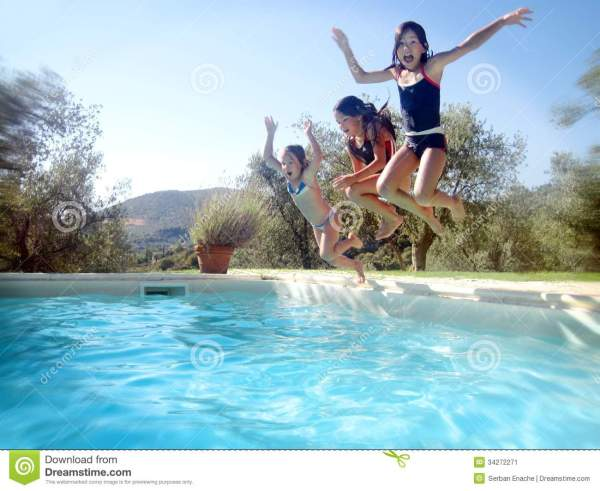 Summer Time Stock Of Blue Happiness Playful