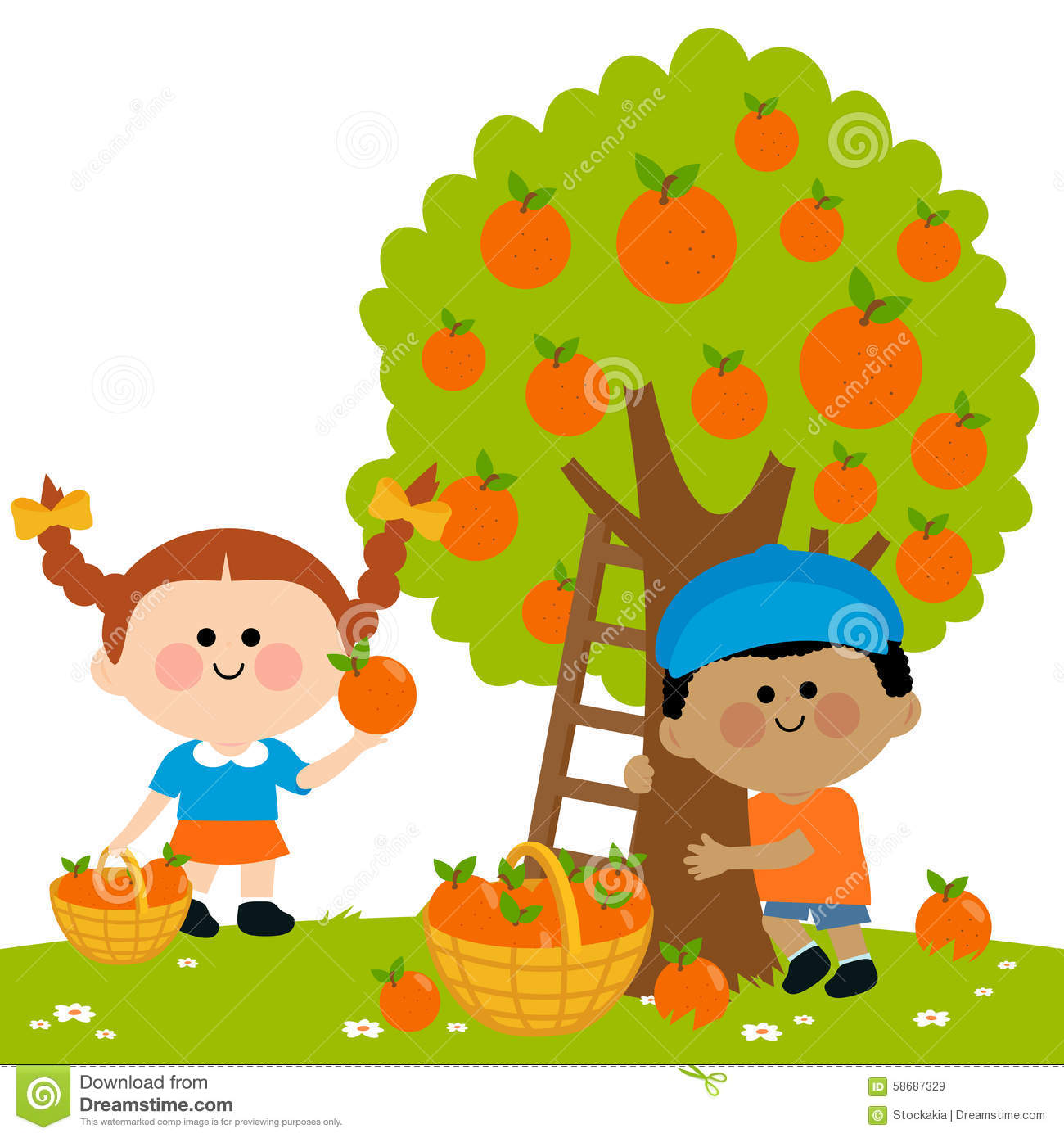 Picking Vegetables Clip Art