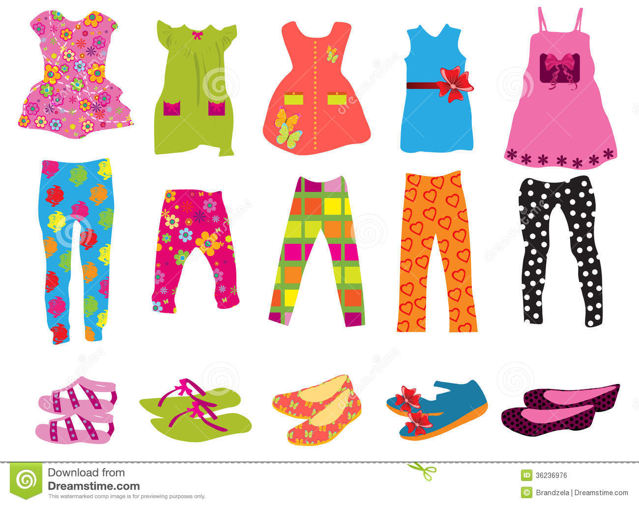 Children S Clothes For Women Royalty Free Stock Image