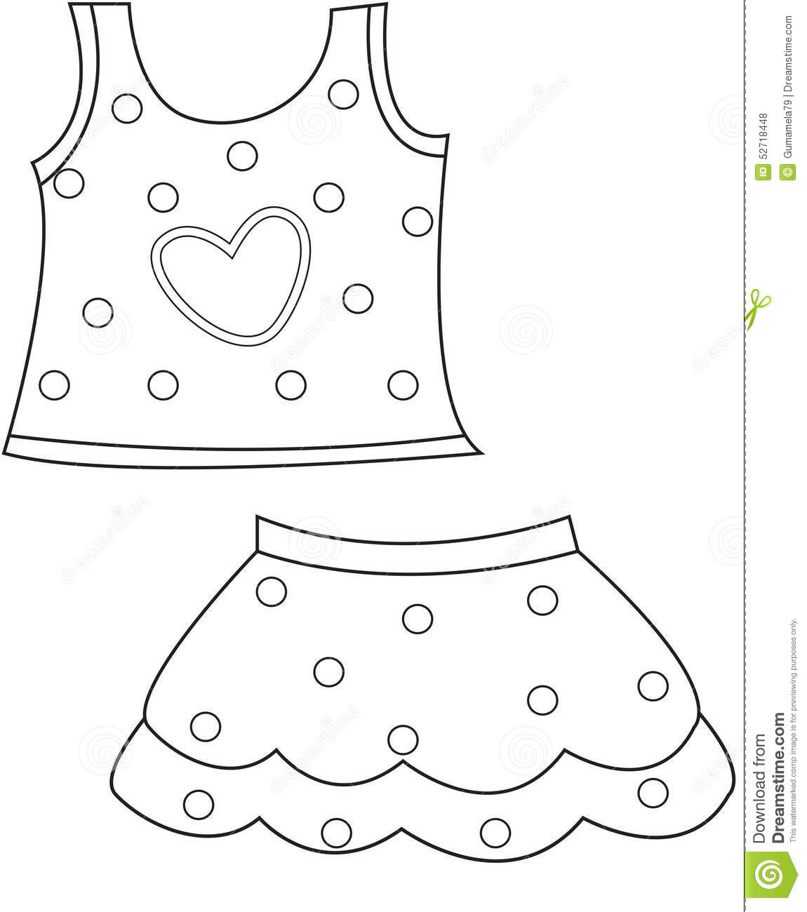 Children S Clothing Coloring Page Stock Illustration