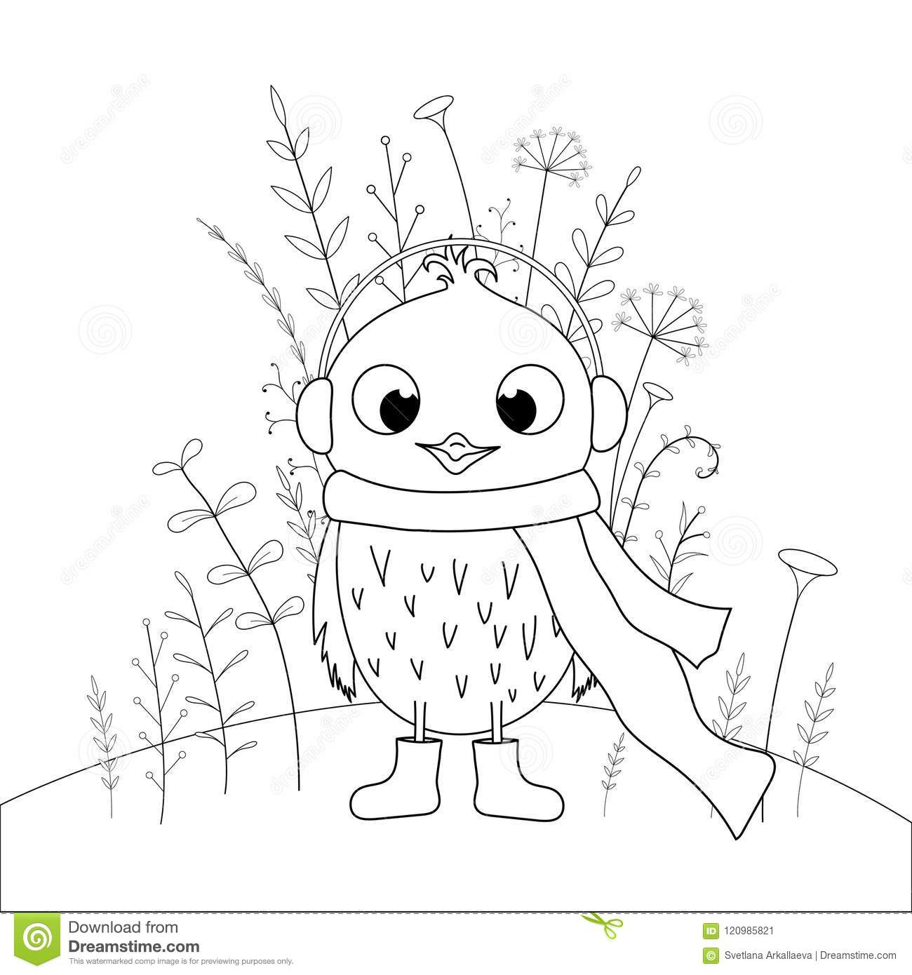 Children S Coloring Book With Cartoon Animals. Educational