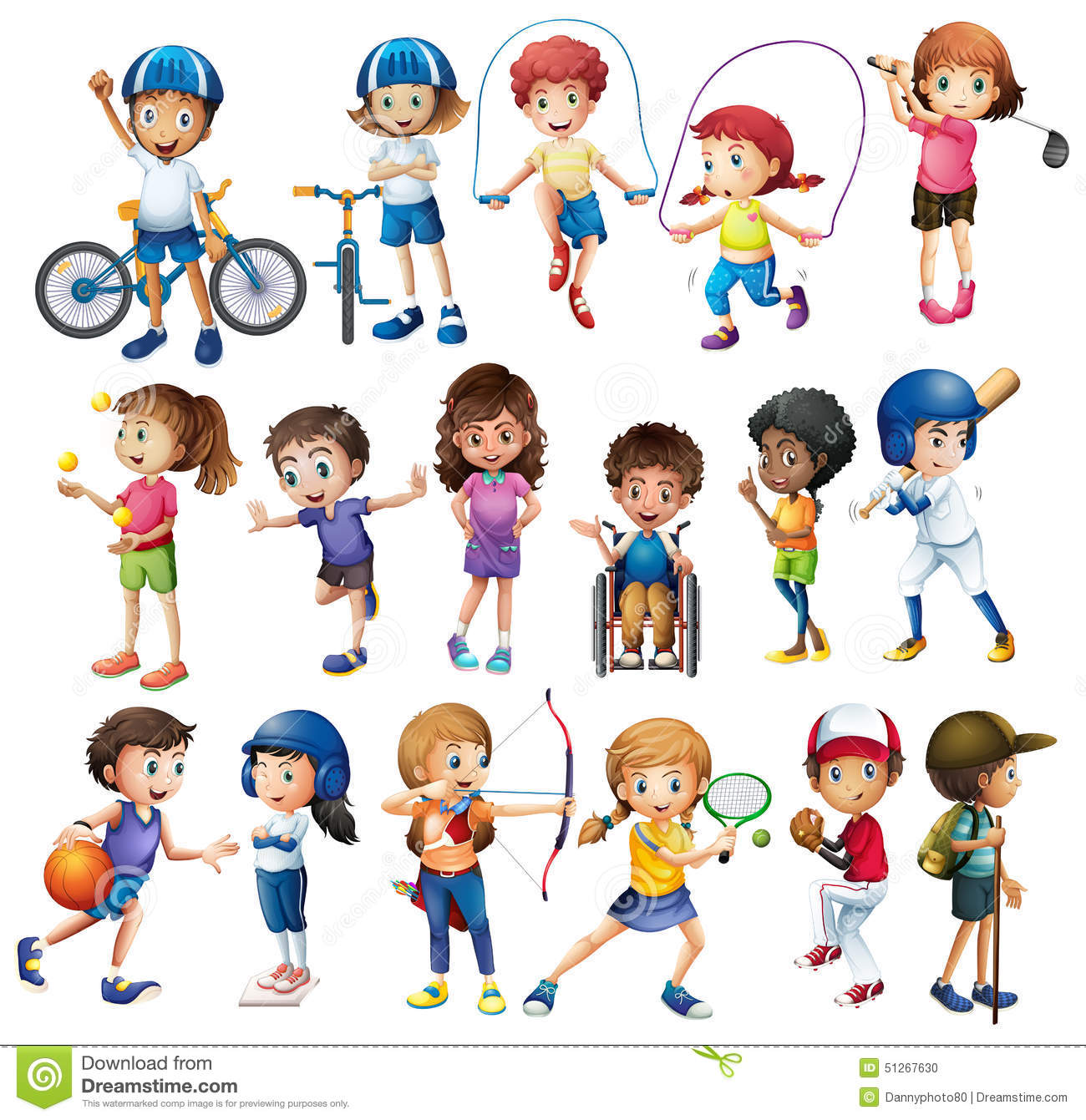 Children And Sports Stock Illustration
