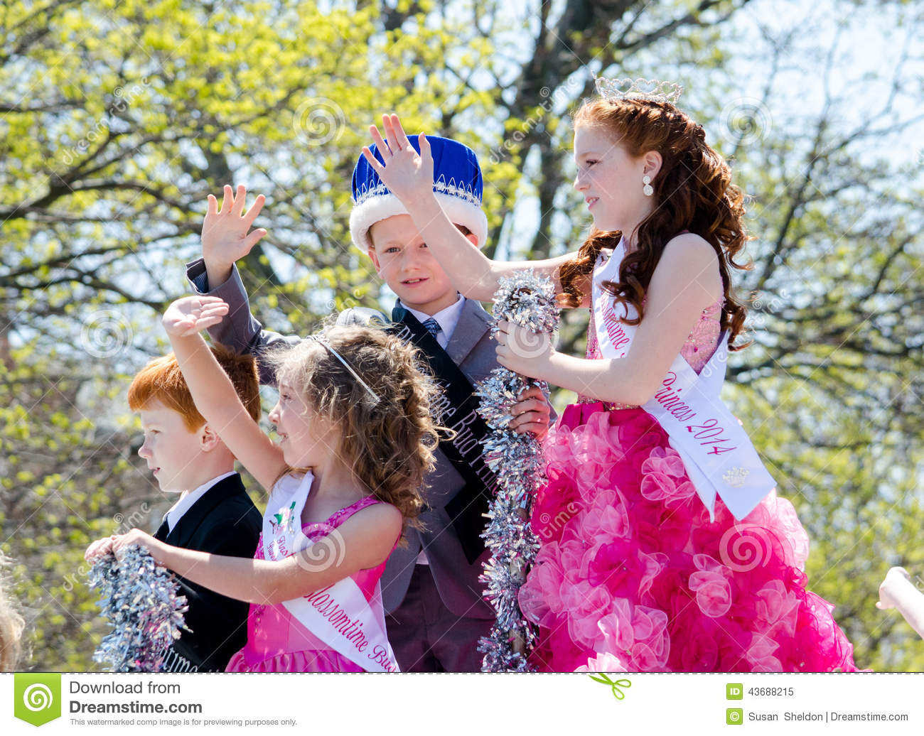 children and tiaras and