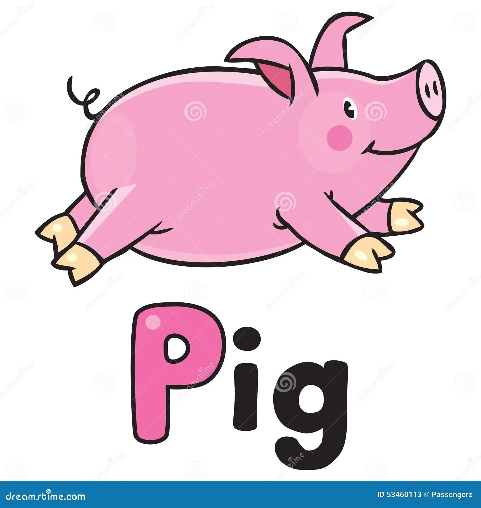 Children Vector Illustration Of Little Pig Stock Vector