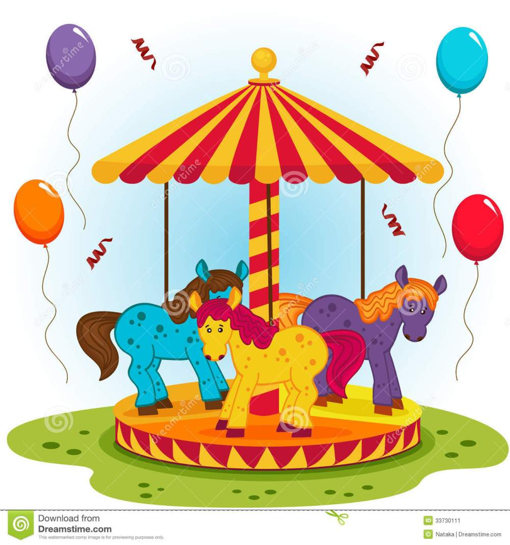medium resolution of childrens carousel with horses