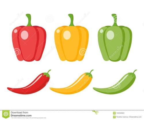small resolution of chilli pepper and bell pepper cartoon clipart