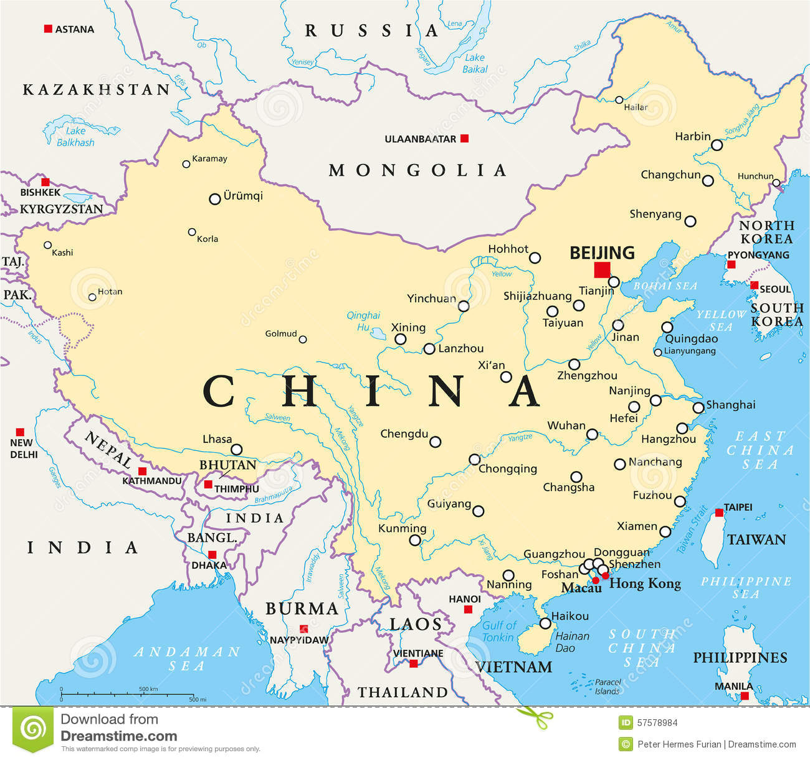 China Political Map Stock Vector Illustration Of Lhasa