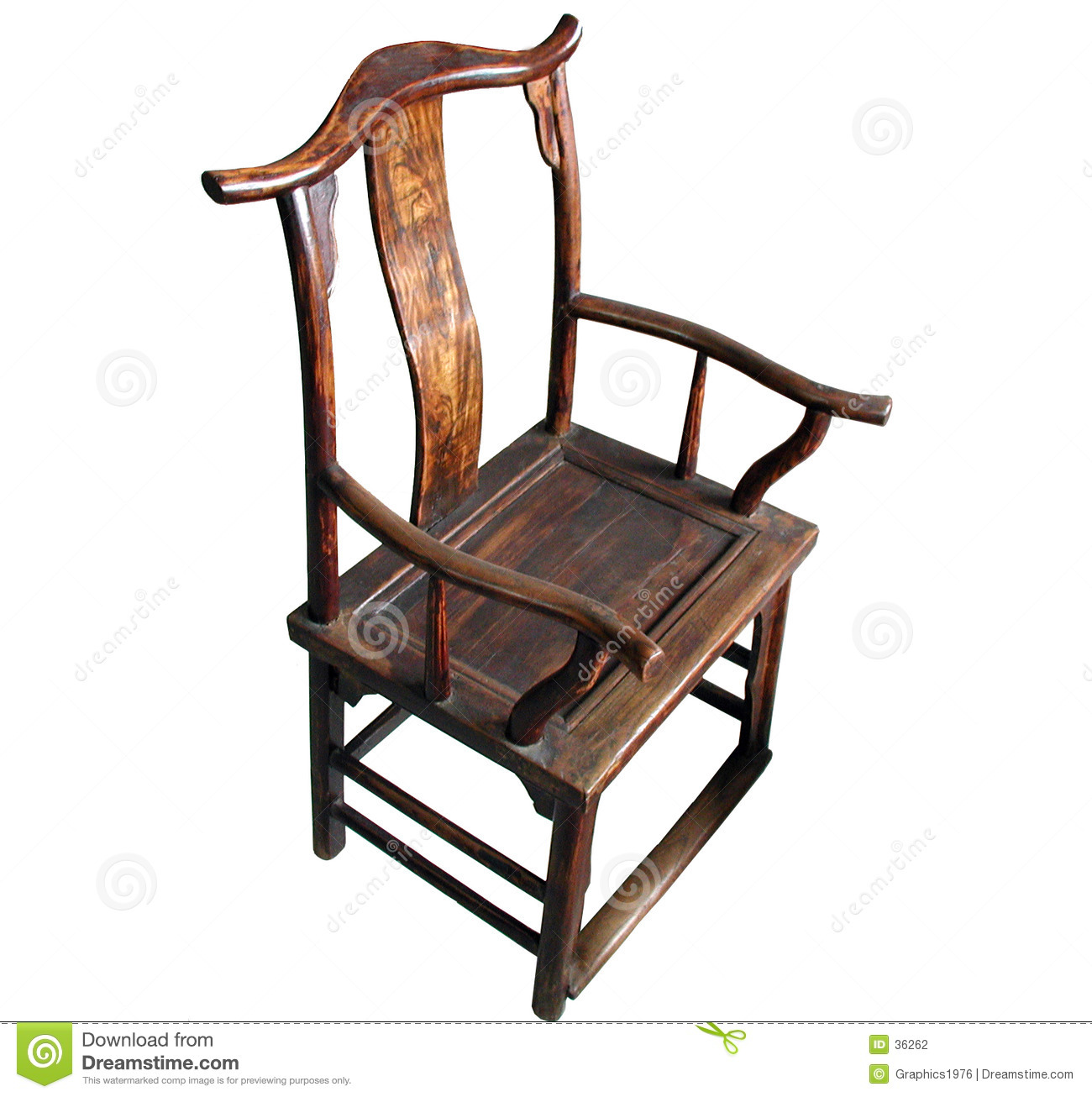 Chinese Chair Chinese Antique Furniture Chair Isolated Stock Photo